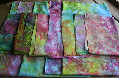 ironed dyed fabrics