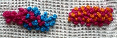 pointillist stitching