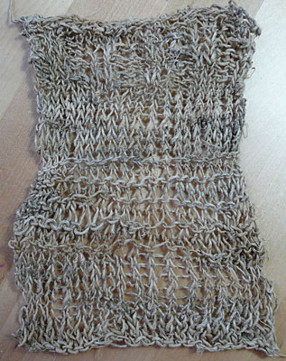 hemp yarn knitting