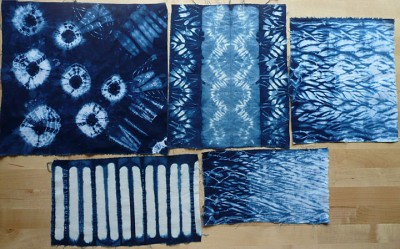 indigo shibori samples