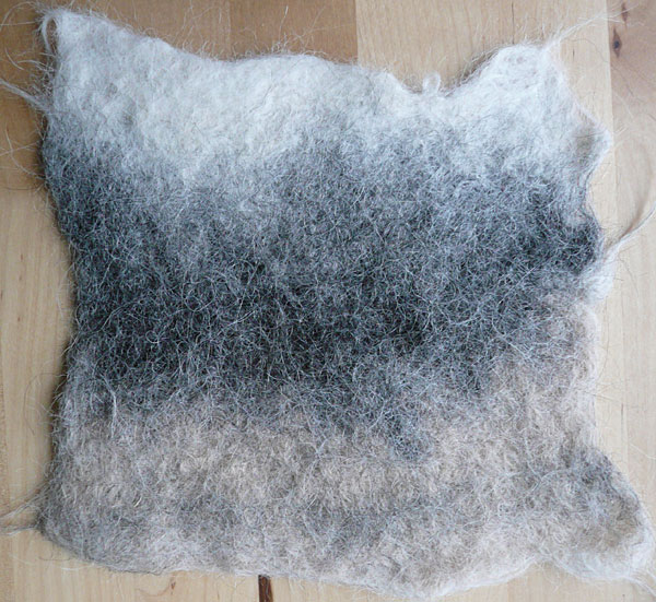 alpaca fleece felt sample