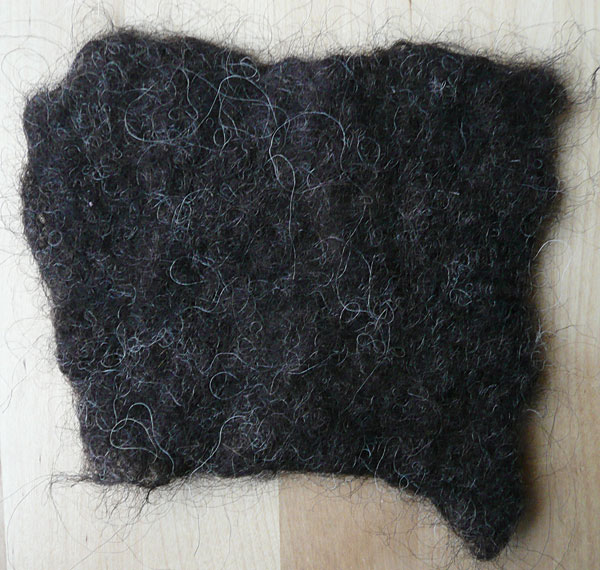 hebridean fleece felt sample