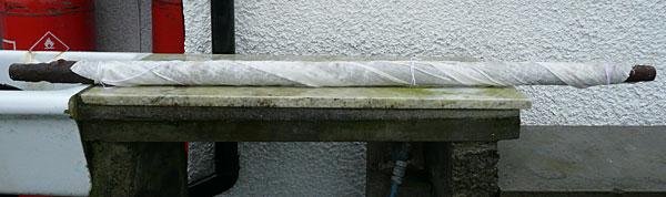 wrapped pole