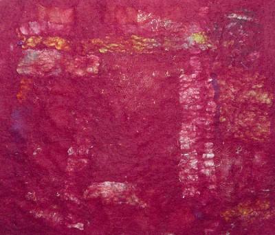 trapped  fabric nuno felt
