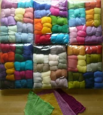 coloured fleece