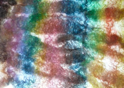 gathered felt against light