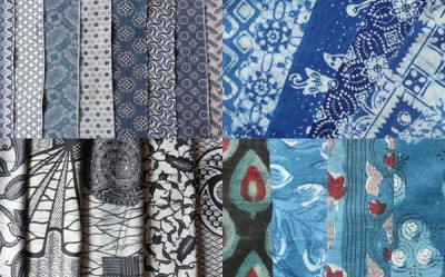 fabrics from Africa, Java and India