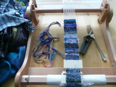 weaving on loom