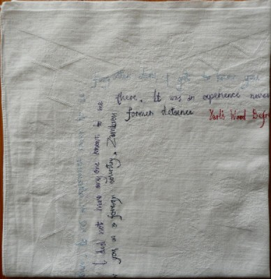 napkin stitched writing
