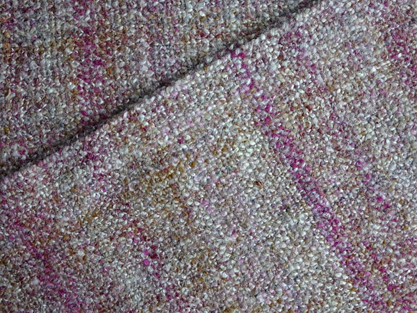 Handspun, handwoven scarf after wet finishing and ironing