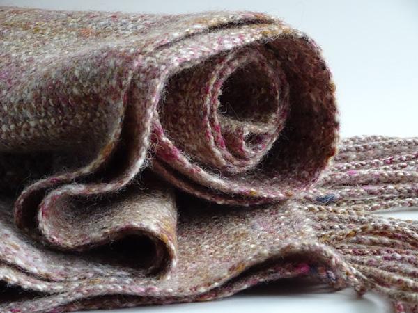 Handwoven, handspun scarf by Fiona Dix