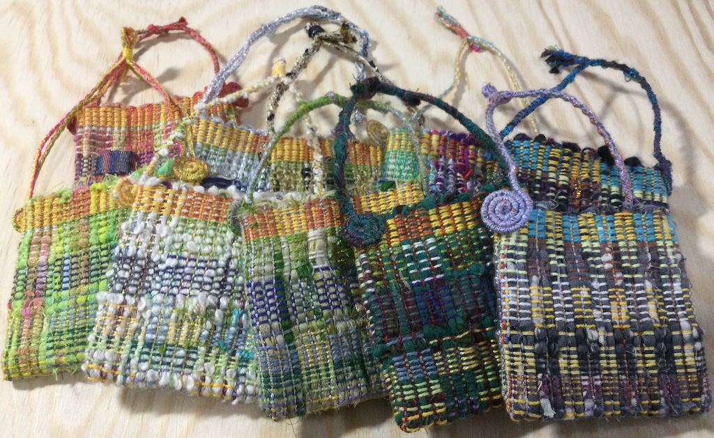 tiny handwoven bags
